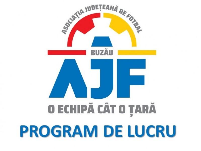 PROGRAM DE LUCRU AJF BUZAU