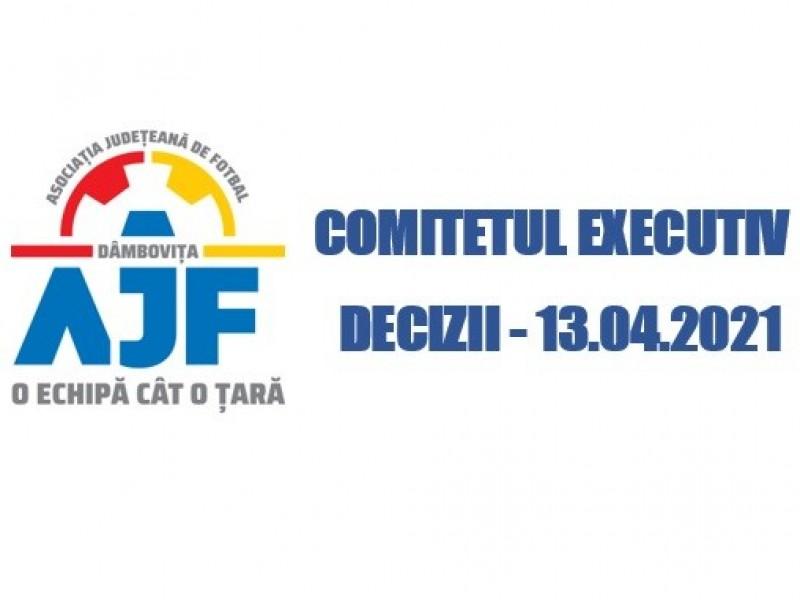 Hotărârea Comitetului Executiv 13.04.2021