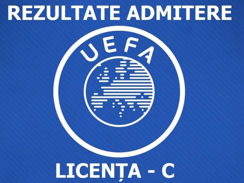 Rezultatele concursului de admitere - Licența C UEFA