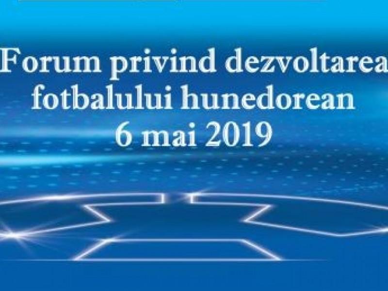 Forum privind dezvoltarea fotbalului hunedorean