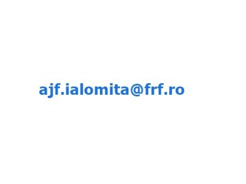 Noua adresă de e-mail AJF Ialomița