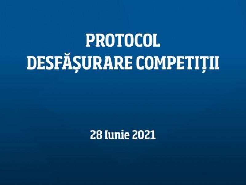 Proceduri desfăşurare competiţii FOTBAL - 28 iunie 2021