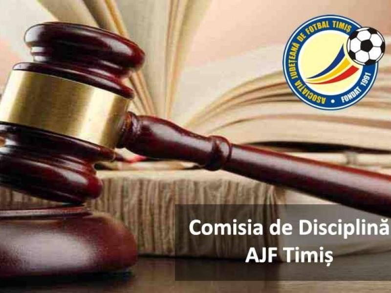 Comisia de disciplina a AJF Timis